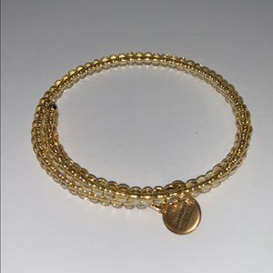 Alex And Ani gold beaded bracelet